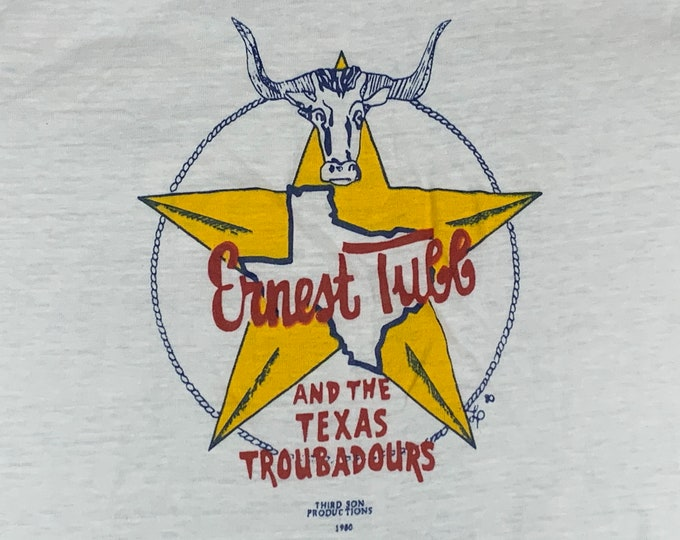 S/M * nos vtg 1980 Ernest Tubb and his Texas Troubadours t shirt * classic country music tour small medium* 50.149