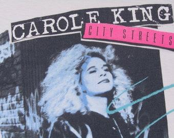 M/L * vtg 80s 1989 Carole King concert tour t shirt * medium large * 100.42