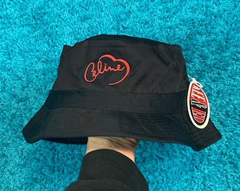L/XL * nos vtg CELINE DION bucket hat *large xl * tour shirt