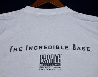 L * vtg 80s 1989 the incredible Rob Base rap t shirt * profile records * 8.126