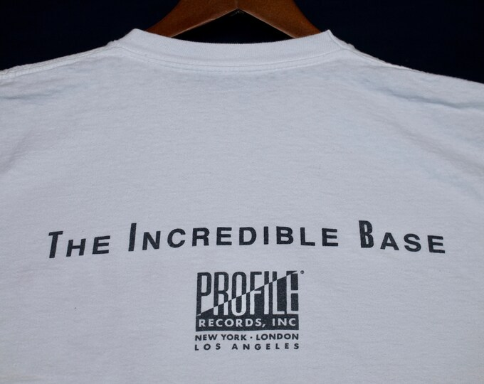 L * vtg 80s 1989 the incredible Rob Base rap t shirt * profile records * 8.126