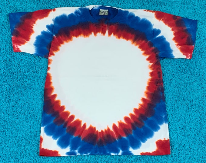 M * nos vtg 90s tie dye t shirt * single stitch * 63.172