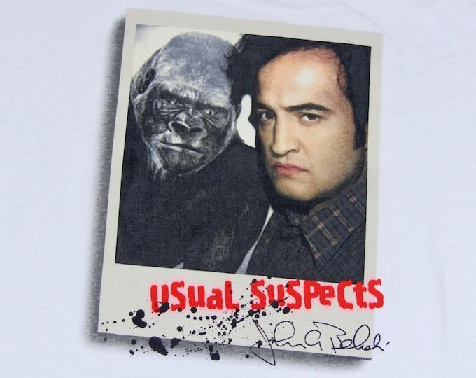 L * NOS vtg 90s 1998 John Belushi usual suspects t shirt * 85.80