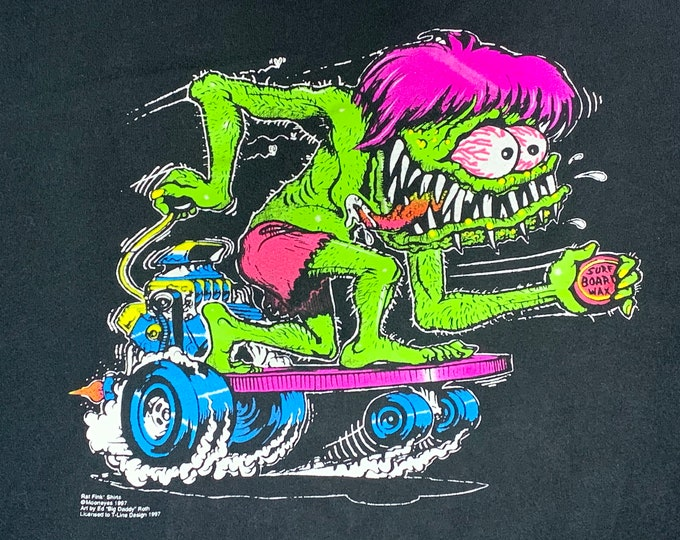 XXL * vtg 90s 1997 Big Daddy Ed Roth t shirt * rat fink mooneyes skateboard weirdo monster rod surf * 9.160