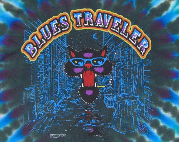 XL * NOS vtg 90s 1997 Blues Traveler tie dye t shirt * horde jam band tour * 7.172