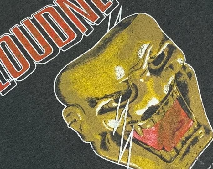 XS * thin vtg 80s 1986 LOUDNESS lightning strikes tour t shirt * japanese glam metal hair heavy * 58.174