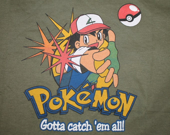 S * NOS vtg 90s Pokemon gotta catch em all t shirt * 39.177