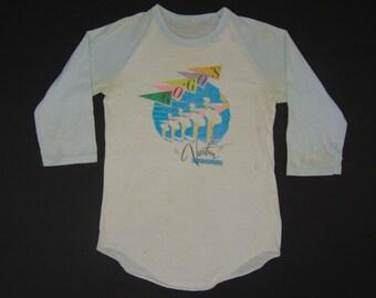 S * thin vtg 80s 1982 the Go Go's vacation raglan tour t shirt * gogos go gos belinda carlisle * 101.38