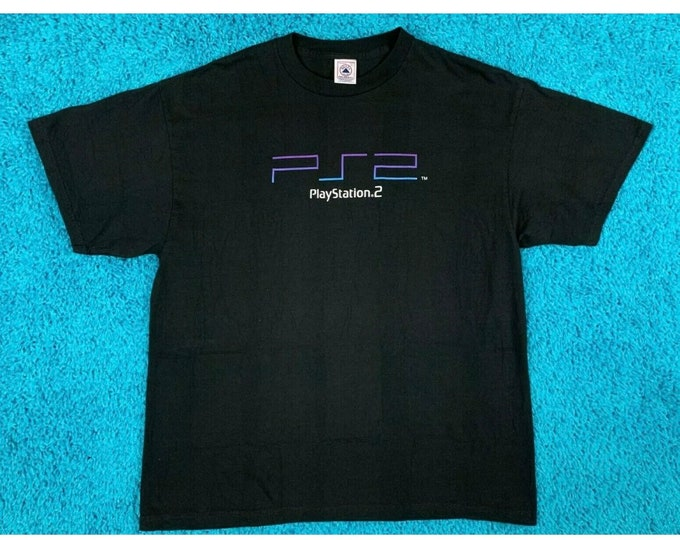 M deadstock vintage PS2 promo t shirt * PlayStation 2