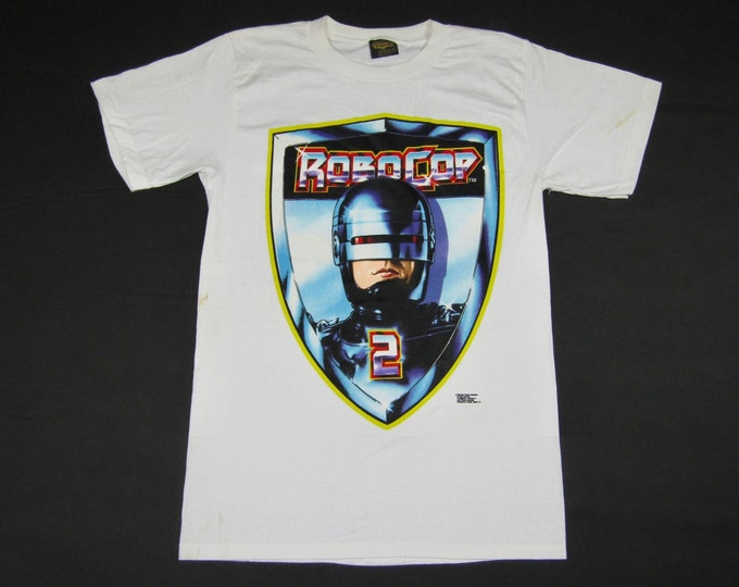 M * NOS vtg 90s 1990 Robocop 2 movie promo t shirt * 38.167 vhs