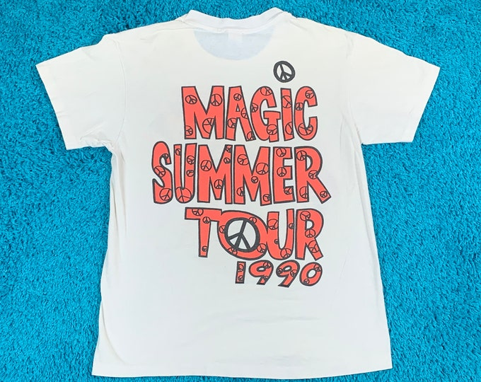 S/M * thin vtg 1990 New Kids On The Block magic summer tour t shirt * small medium * 73.136