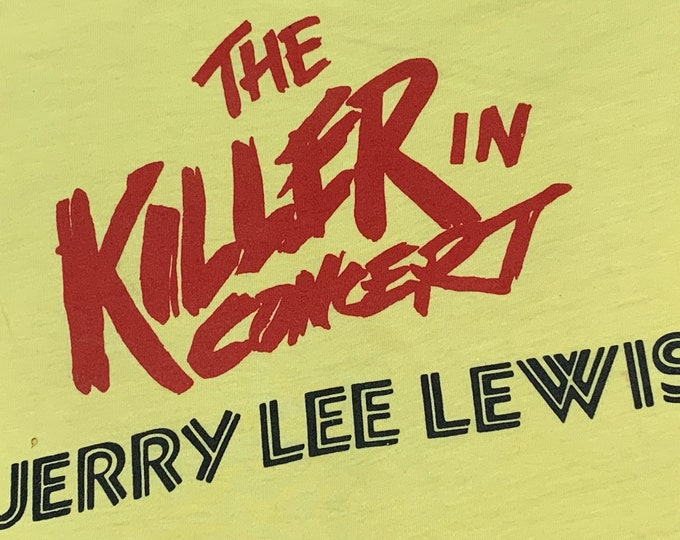 S * vtg early 80s Jerry Lee Lewis the killer tour t shirt * 55.152