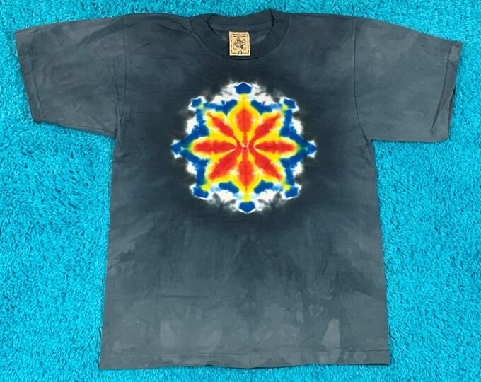 M * nos vtg 90s tie dye single stitch t shirt * 77.128
