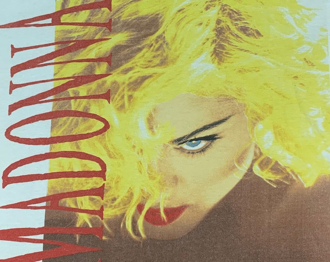 M/L * vtg 1990 MADONNA Blond Ambition tour t shirt * medium large * 27.195