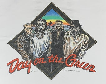 XL * vtg 80s 1987 U2 Bill Graham concert OAKLAND day on the green t shirt * the pretenders joshua tree tour * 72.149