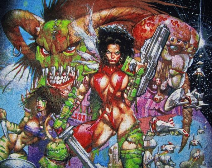 XL * NOS vtg 90s Heavy Metal 2000 movie t shirt * comic cartoon * 36.167
