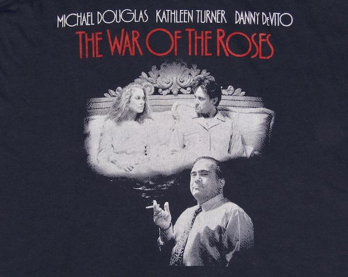 S * NOS thin vtg 80s War Of The Roses promo movie t shirt tank top * danny devito kathleen turner michael douglas * 16.115