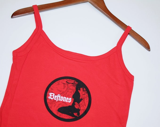 womens M * nos vtg 90s Deftones spaghetti strap camisole shirt * tank top