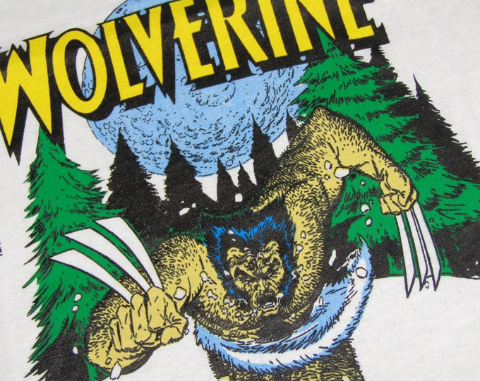 M * NOS thin vtg 80s 1989 Wolverine marvel comic t shirt * 39.178