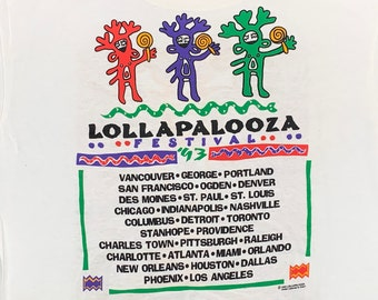 L * vtg 90s 1993 Lollapalooza tour t shirt *  primus alice in chains dinosaur jr george clinton fishbone tool rage against the machine