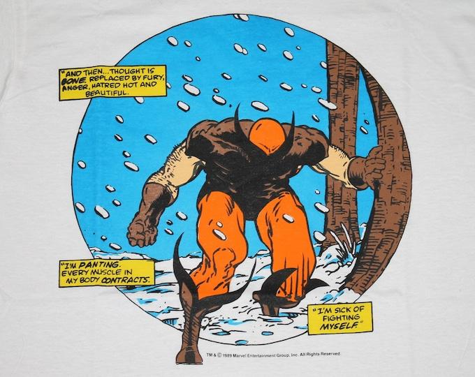 L * NOS vtg 80s 1989 Wolverine marvel comic t shirt * 96.27