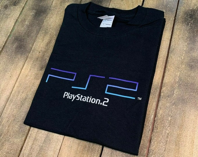 L deadstock vintage PS2 promo t shirt * PlayStation 2