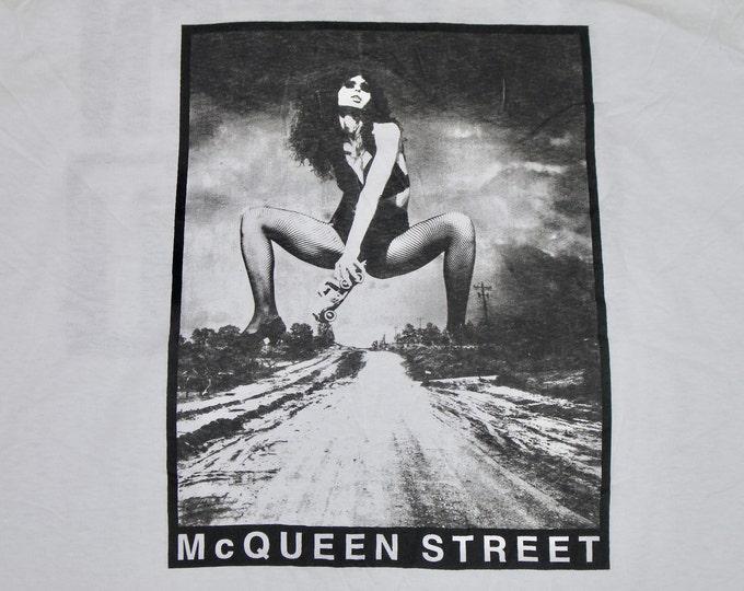 XL * NOS vtg 1991 McQueen Street s/t promo t shirt * glam metal * 37.128