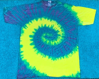 2XL / 3XL * nos vtg 90s tie dye t shirt * 23.1643