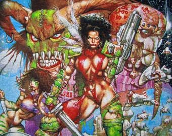 XL * NOS vtg 90s 1999 Heavy Metal movie t shirt * comic cartoon * 6.178