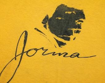 S * vtg 70s 1979 Jorma Kaukonen solo promo t shirt * jefferson airplane hot tune * 81.133