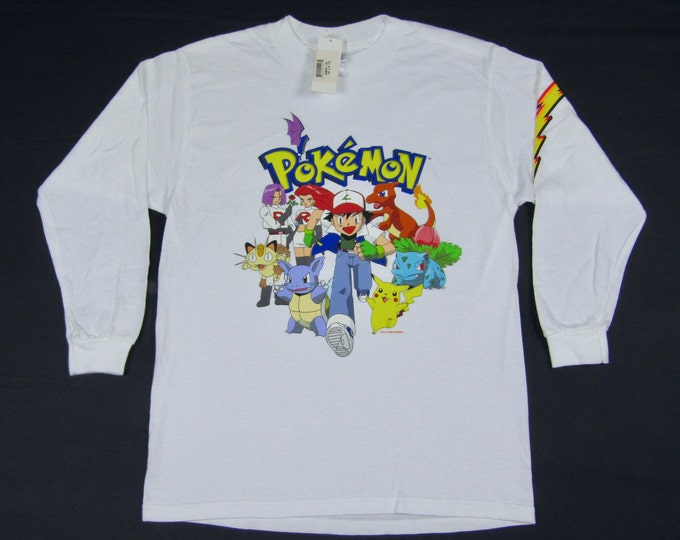 XS * NOS vtg 90s Pokemon Nintendo long sleeve t shirt * 45.185
