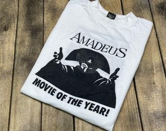 M * vintage 80s 1984 / 1985 Amadeus movie t shirt * promo wolfgang mozart hbo vhs * 66.180