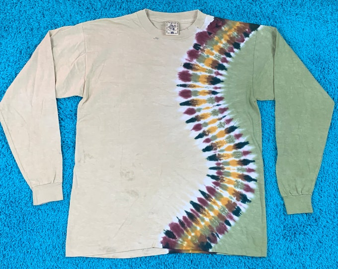 L * nos vtg 90s tie dye single stitch t shirt * 76.131