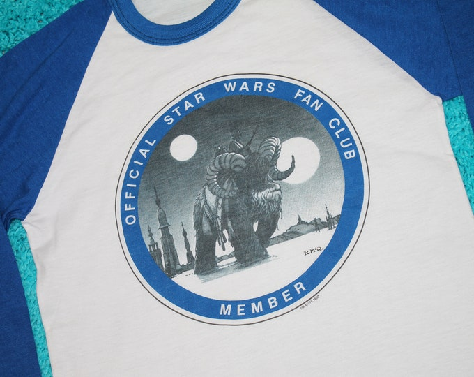 XS * NOS vtg 80s 1982 Star Wars Fan Club raglan t shirt * 39.175