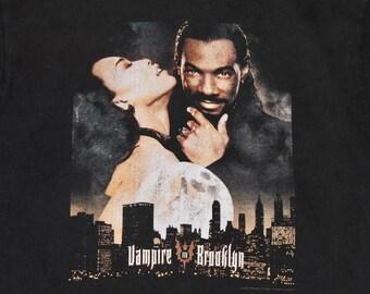 M/L * vtg 90s 1995 Vampire In Brooklyn movie promo t shirt * eddie murphy horror vhs * medium large