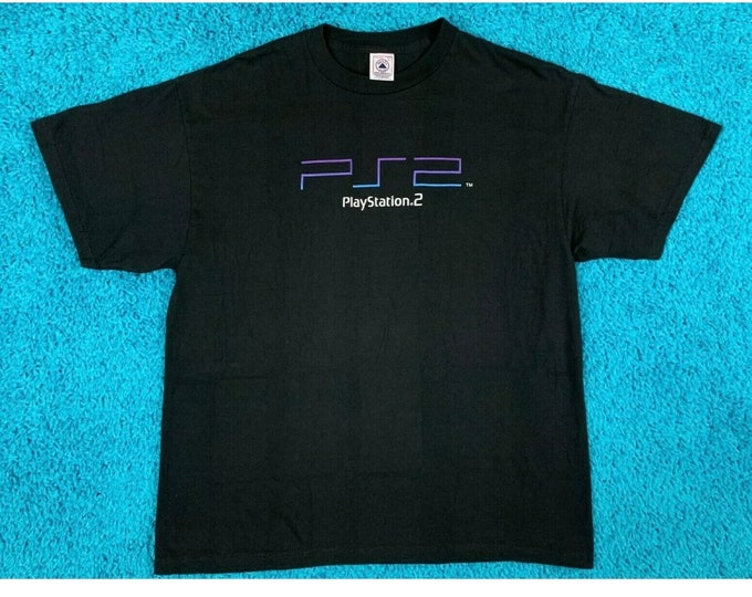 XL deadstock vintage PS2 promo t shirt * PlayStation 2