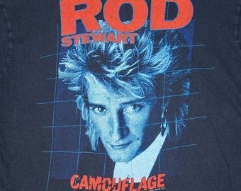 S/M * vtg 80s 1984 Rod Stewart concert tour t shirt * 25.145
