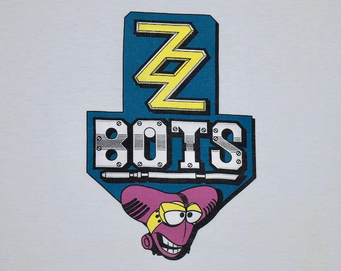 XL * vtg 90s 1993 The Bots Master t shirt * botz ZZ cartoon toy * 22.159