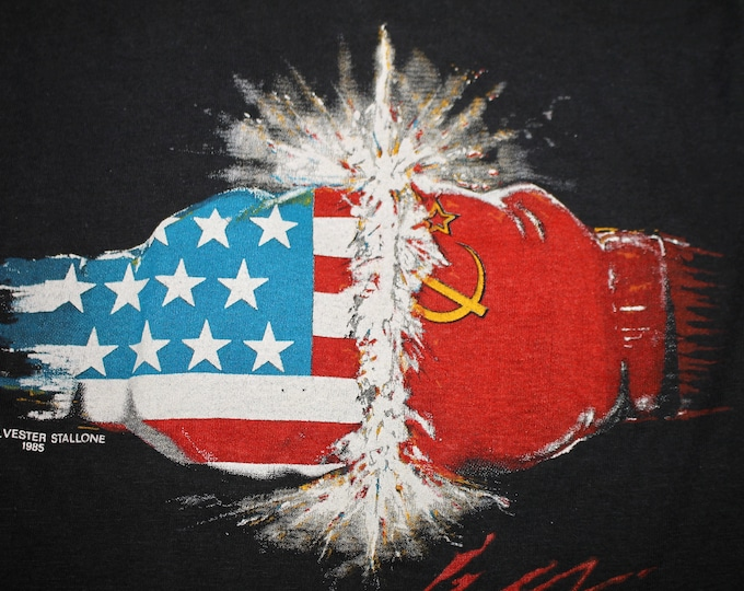 XS/XXS * vtg 80s 1985 Rocky IV movie t shirt * usa vs russia sylvester stallone * 61.135