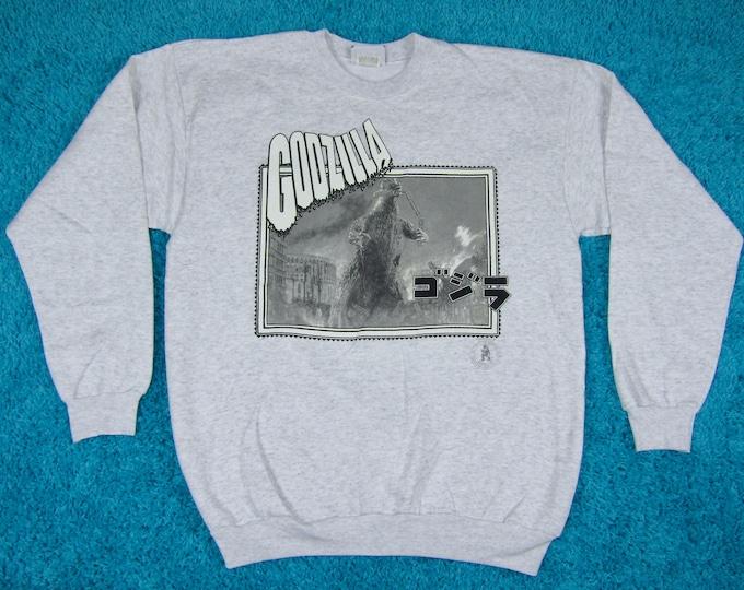 XL * NOS vtg 90s 1994 Godzilla crewneck sweatshirt * monster movie shirt