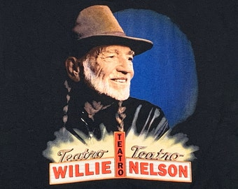 L * vtg 90s 1998 Willie Nelson Teatro t shirt * classic country music outlaw * 3.199
