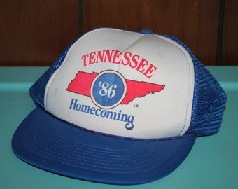 vtg 80s 1986 Tennessee Homecoming trucker hat * mesh snapback