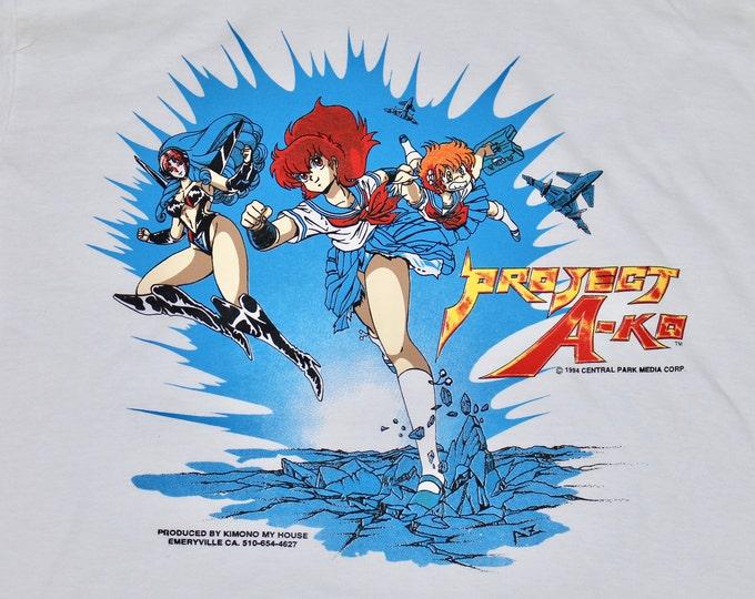 L * NOS vtg 90s Project A-Ko t shirt * anime movie