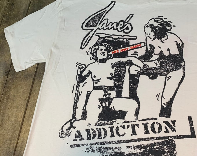 M * nos vtg 90s 1997 Janes Addiction itz my party kettle whistle t shirt * 53.139