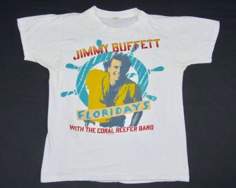 S M   vtg 80s 1986 Jimmy Buffett floridays concert tour t shirt   small  medium   72.146 f10c9fef26c6