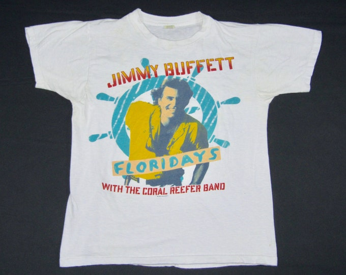 S/M * vtg 80s 1986 Jimmy Buffett floridays concert tour t shirt * small medium * 72.146