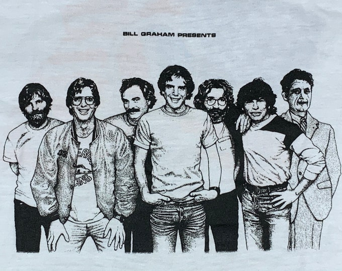 XS * nos vtg 80s 1984 the Grateful Dead Bill Graham NYE t shirt * 14.169