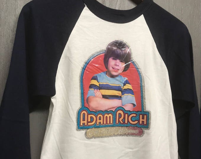 XS nos vintage 70s Adam Rich Eight Is Enough tv show raglan t shirt