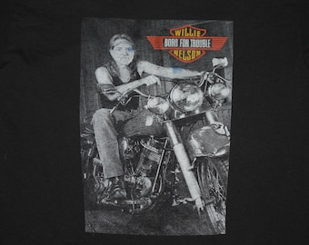XL * vtg 90s 1992 Willie Nelson sturgis motorcycle t shirt * biker 74.107