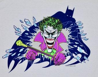 XL * NOS vtg 80s 1989 The Joker batman dc comic t shirt * 95.49 villain